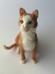 Tweed the felted cat