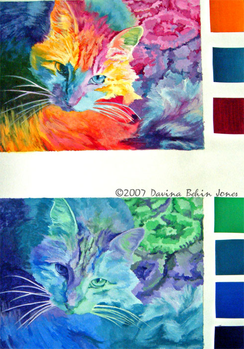 Analogous color paintings images for Analogous colors are