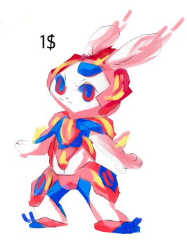 Fire Rabbit by Rosanacabellomaria