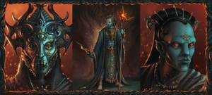 Sauron, high priest of Melkor by Skullbastard
