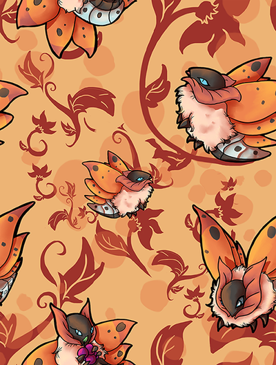 Volcarona Pattern by Crickatoo