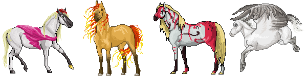 Pixel Equines for Bek by Crickatoo