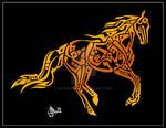 Quranic Calligraphy - Horse