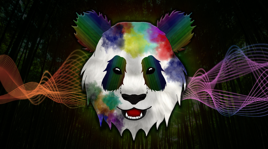 Rainbow Panda by MortalRaven on DeviantArt