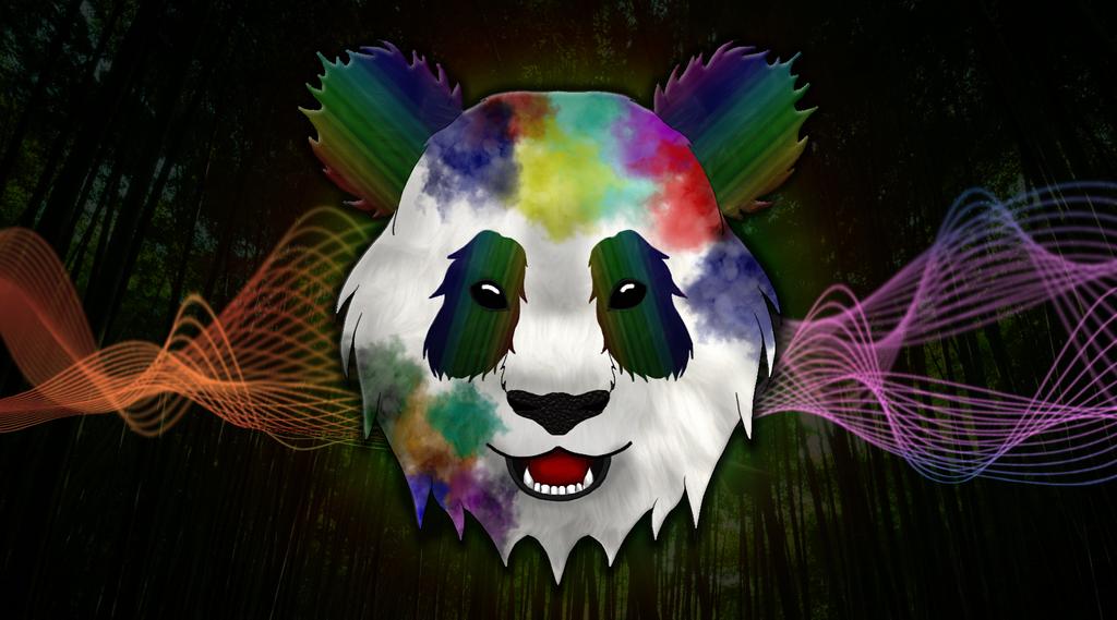 Rainbow Panda by MortalRaven