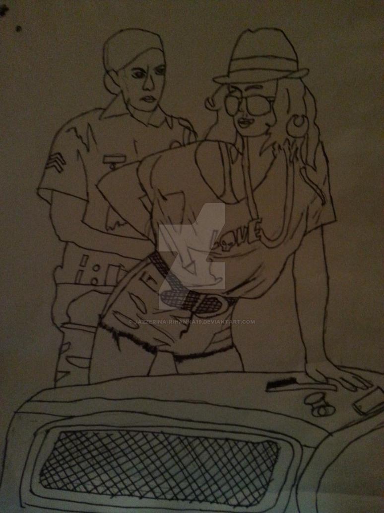 gta 5 loading screen drawing by Jazzerina-Rihanna19