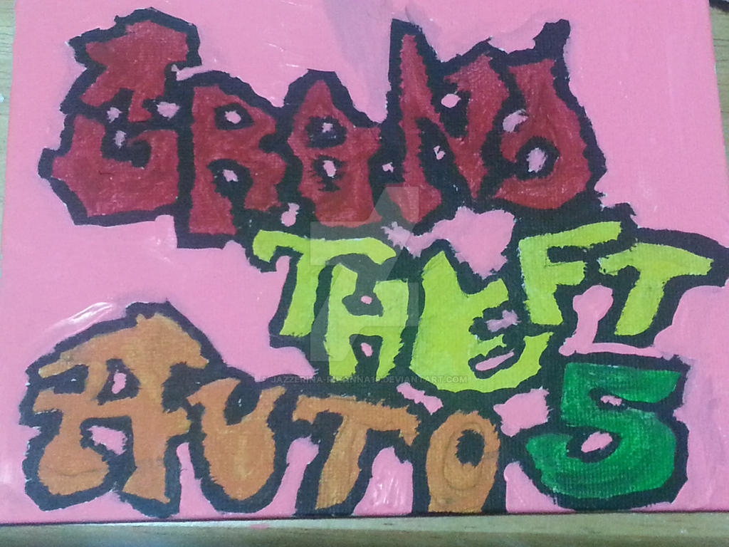 Grand Theft Auto 5 in graffiti by Jazzerina-Rihanna19