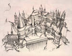 Hogwarts castle by Andette