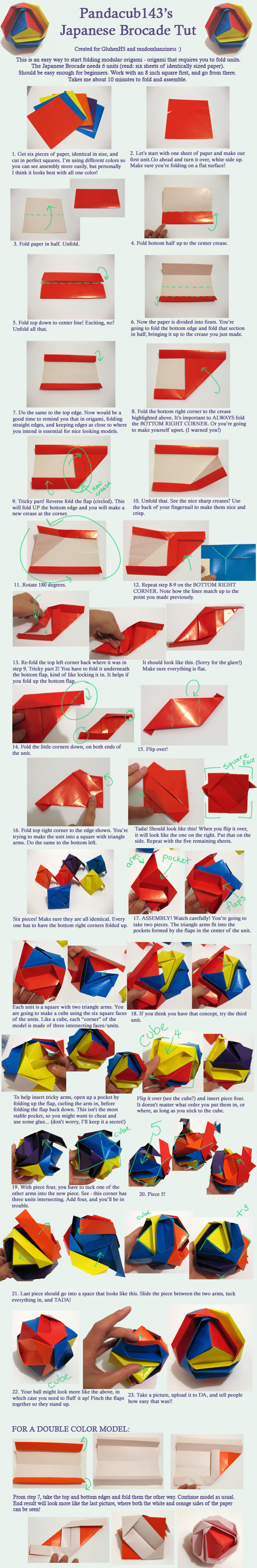 Origami Brocade Tutorial