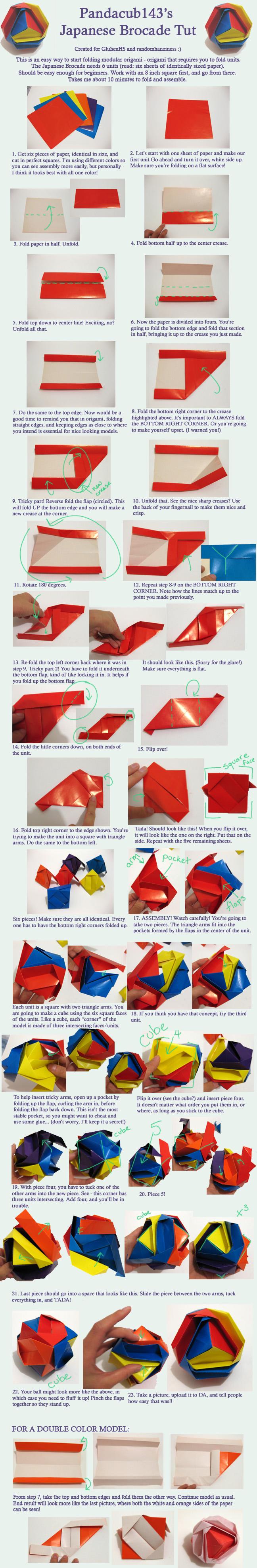 Origami Brocade Tutorial by pandacub143