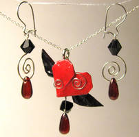 Crimson Winged Heart Set by pandacub143