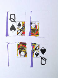 Queen of spades playing card illusion by Ned-The-Hat