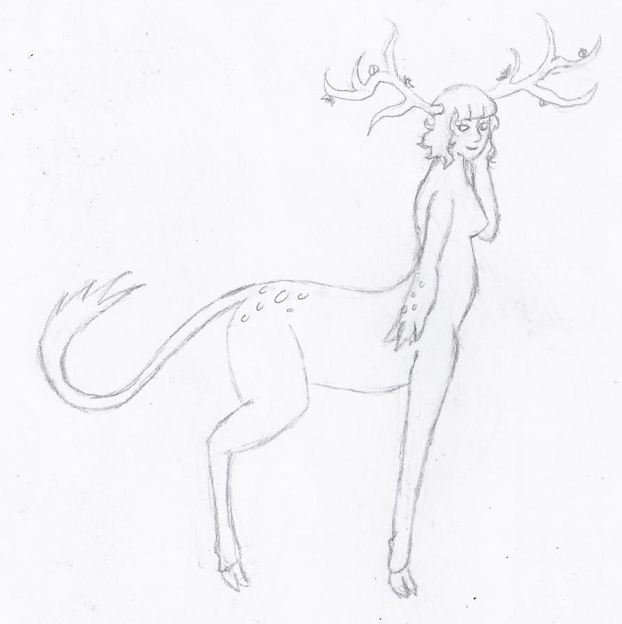 Flower Deertaur by Celestriakle