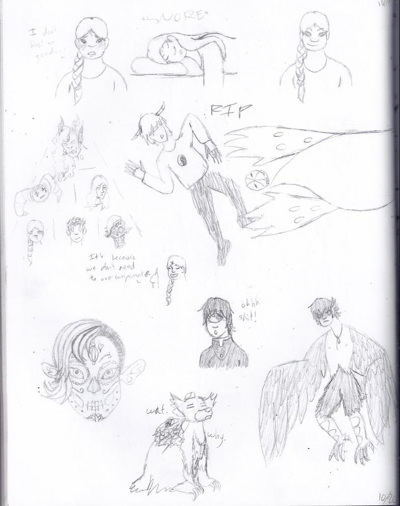 Monster Doodles by Celestriakle
