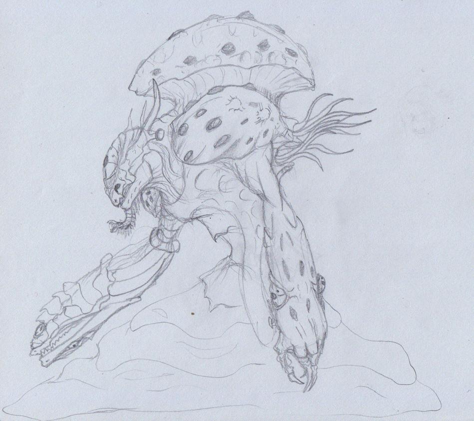 Mushroom demon by ghostlykazesensei