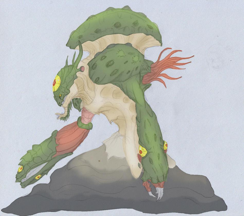 Mushroom demon colored by ghostlykazesensei