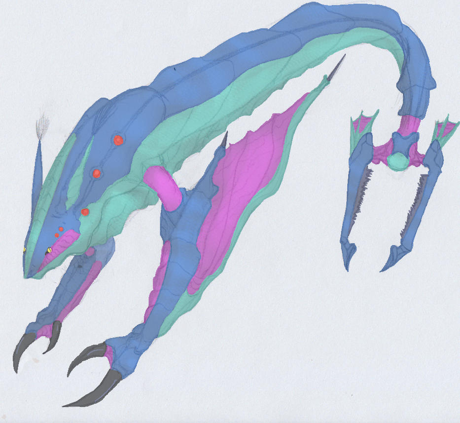 Water Demon colored by ghostlykazesensei