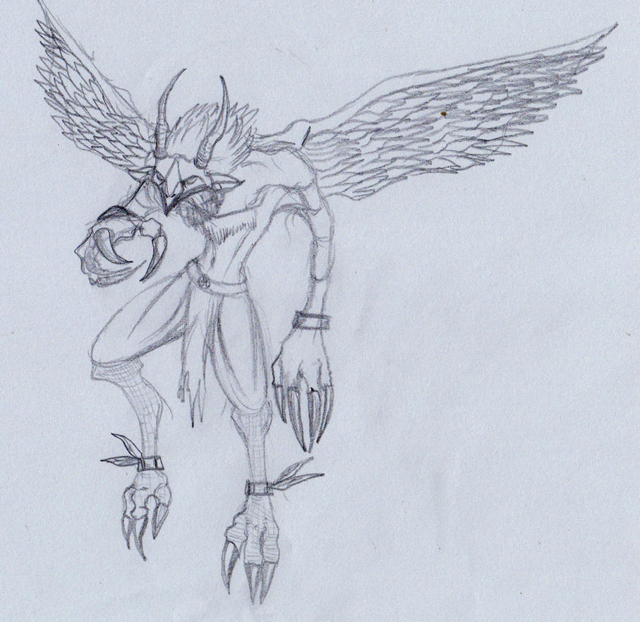 Humanoid bird 01 by ghostlykazesensei