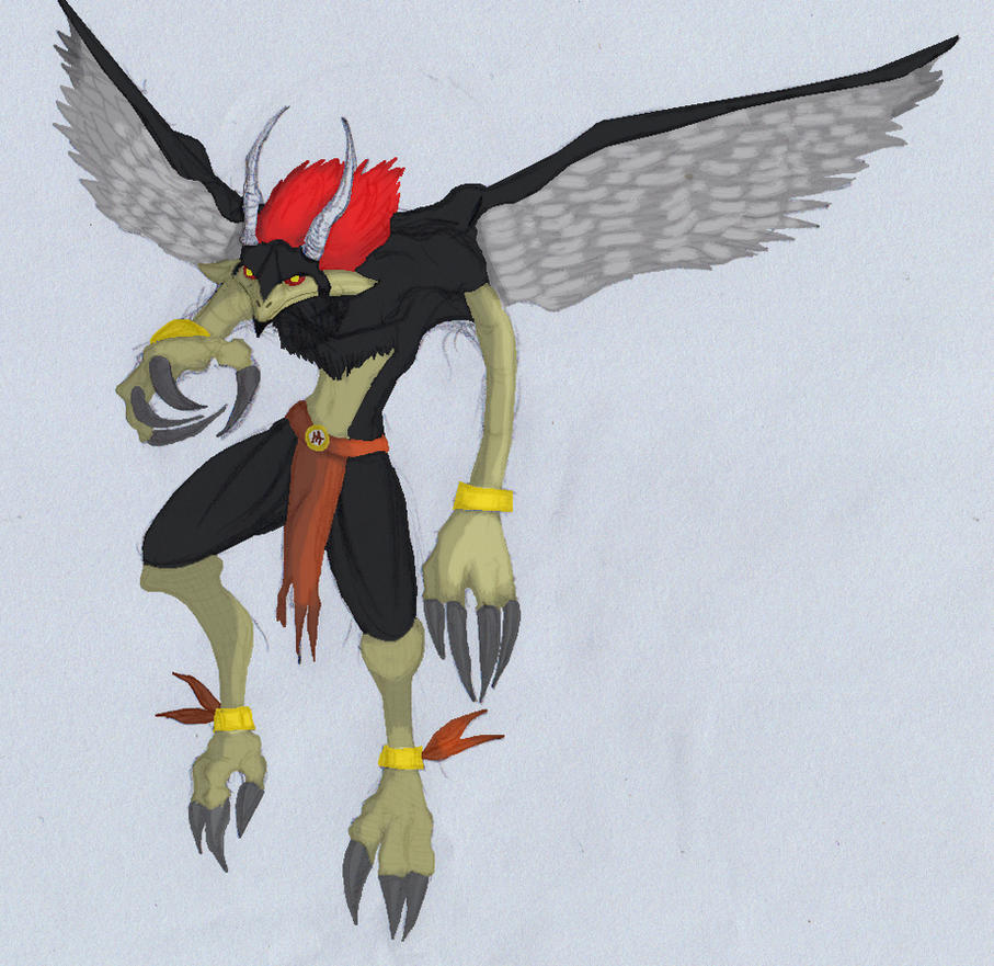 Humanoid bird 01colored by ghostlykazesensei