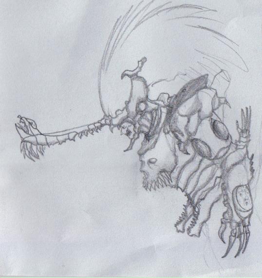Skeleton Demon  by ghostlykazesensei