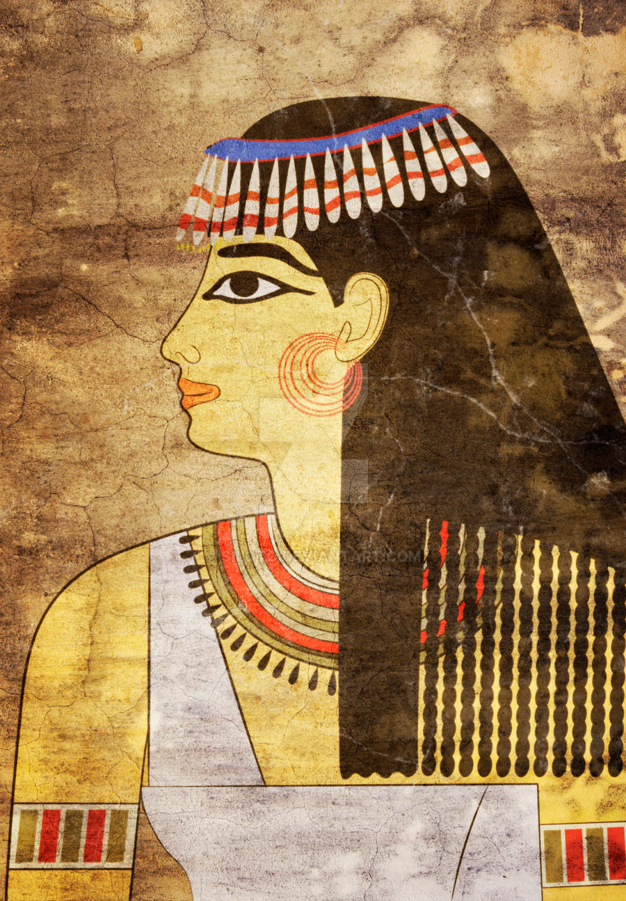 Woman of ancient egypt by siloto on deviantart for Egyptian mural painting