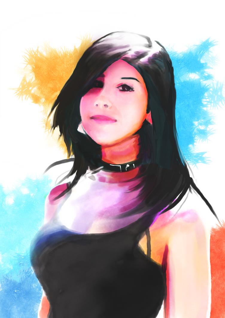 Watercolor Aiko by el-fio