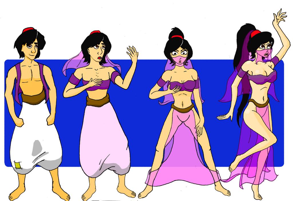 Aladdin to belly dancer by GodofLizards
