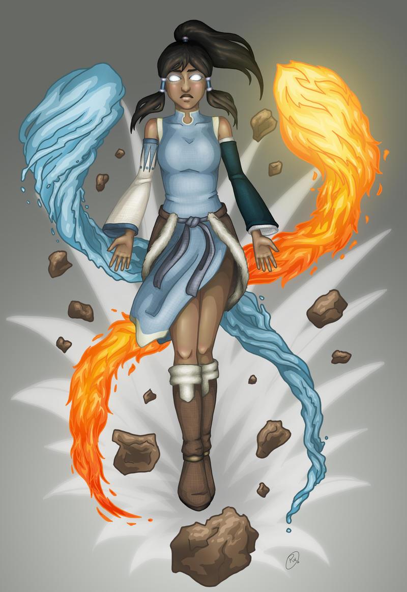 Korra - Avatar State by RebeccaMorton on DeviantArt Aang Avatar State Korra