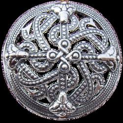 Viking Shield Style Brooch