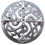 Viking Shield Style Brooch