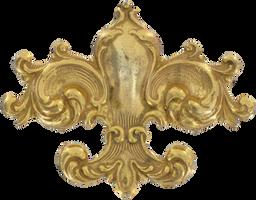 Vintage Fleur de lis Brooch by EveyD