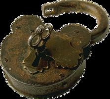 Antique Lock with Key