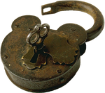 Antique Lock with Key