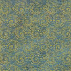 EKD Blue Swirl Damask - 1816