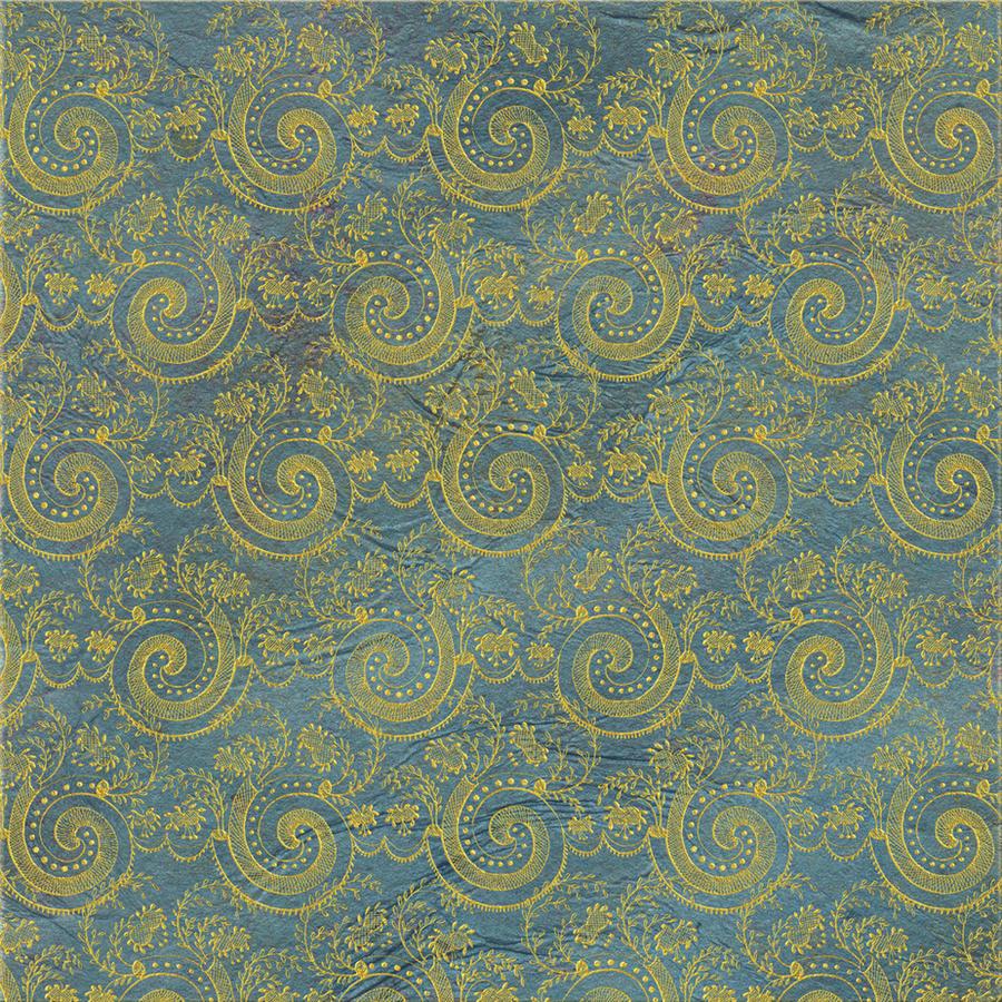 EKD Blue Swirl Damask - 1816 by EveyD