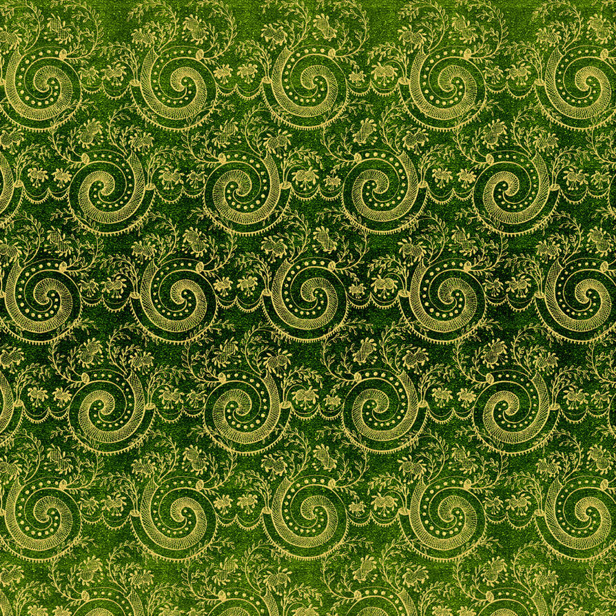 EKD Green Swirl Damask - 1816 by EveyD