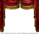 Paper Theater Curtain - Ruby