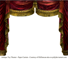 Paper Theater Curtain Garnet by EveyD