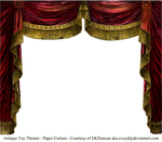Paper Theater Curtain Garnet