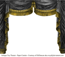 Paper Theater Curtain - Onyx by EveyD