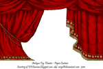 Red Toy Theater Curtain