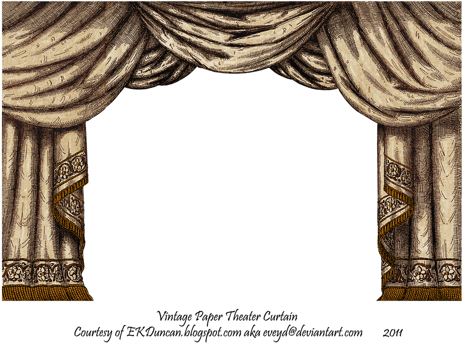 Brown paper theater curtain by eveyd on deviantart for Brown curtains png