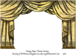 Gold Paper Theater Curtain