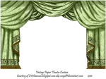 Green Paper Theater Curtain