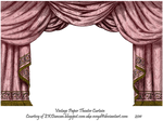 Rose Paper Theater Curtain