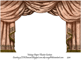 Salmon Paper Theater Curtain by EveyD