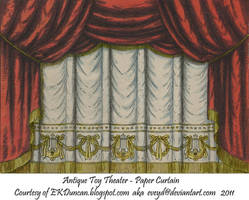 Red Toy Theater Curtain 1 by EveyD