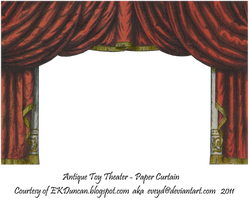 Red Toy Theater Curtain 3 by EveyD