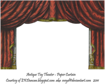 Red Toy Theater Curtain 3