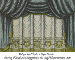 Black Toy Theater Curtain 1 by EveyD